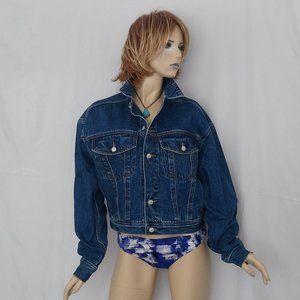 Vintage JORDACHE Denim Jacket 1970's Cropped Sz L